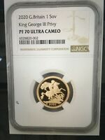 2020 G.BRITAIN KING GEORGE III PRIVY 1SOV GOLD PROOF NGC PF