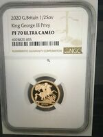 2020 G.BRITAIN KING GEORGE III PRIVY 1/2SOV GOLD PROOF NGC P