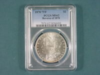 1878 7TF REVERSE OF 78 MORGAN DOLLAR PCGS MINT STATE 62 VAM 84 WASHED OUT L BROKEN D