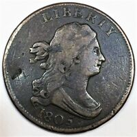 1805 DRAPED BUST HALF CENT BEAUTIFUL HIGH GRADE COIN RARE DA