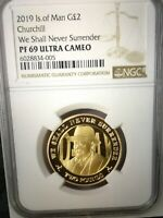 2019 CHURCHILL D DAY LEADERS COIN GOLD PROOF ISLE OF MAN NGC