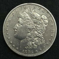 1883-S AU MORGAN SILVER DOLLAR  ABOUT UNCIRCULATED