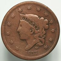 1837 CORONET HEAD SMALL LETTERS LARGE CENT