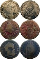 THREE  3  FRENCH COINS USED IN NORTH AMERICA   ALL FOUND IN