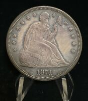 1871 SEATED LIBERTY SILVER S$1 ONE DOLLAR COIN