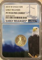 2015 W NGC EARLY RELEASE PF70 ULTRA CAMEO $5 GOLD EAGLE PROOF SHIPS FREE