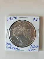 1921 S MORGAN SILVER DOLLAR >>> AU ABOUT UNCIRCULATED - 90 SILVER SHIPS FREE