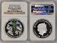 2013 P NGC PF69UCAM TUVALU YEAR OF THE SNAKE SUCCESS   COLOR
