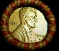 WHEAT PENNY ROLL CAPPED WITH KEY 1909 S LINCOLN WHEAT CENT
