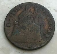 1866 OVER 5 MEXICO 1/4 REAL    COPPER