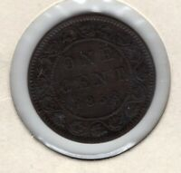 1858 CANADA CANADIAN LARGE 1 CENT VICTORIA COIN NICE OLD HOLDER YOU GRADE KEY
