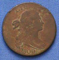 1800 DRAPED BUST CENT. NO RESERVE.