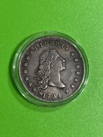 1794 FLOWING HAIR SILVER DOLLAR MOSTLY DETAILED