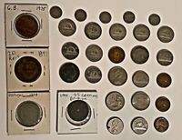 HUGE COIN LOT OLD FOREIGN AND US COINS INCLUDES 1800S COIN A