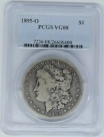 1895 O MORGAN DOLLAR PCGS VG08 GREAT PQ COIN FOR A GRADE KEY DATE