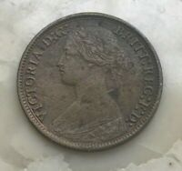 1865 GREAT BRITAIN FARTHING   SMALL COPPER