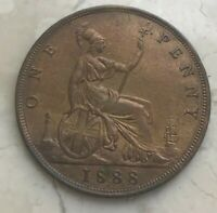 1888 GREAT BRITAIN 1 ONE PENNY   AU DETAILS