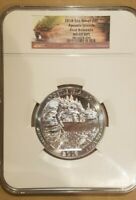 2018 5OZ SILVER ATB 25C APOSTLE ISLANDS NGC MS 69 DPL FIRST RELEASES UNC NICE