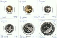GUYANA 1978 PROOF COINS   SET OF 5 COINS   LOW MINTAGE   UNC