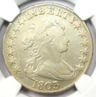 1803 DRAPED BUST HALF DOLLAR 50C COIN - CERTIFIED NGC VF DETAILS