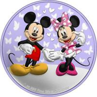 NIUE 2020 $2 MICKEY&MINNIE VALENTINE'S DAY   BUTTERFLIES OF
