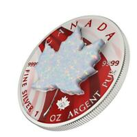 CANADA 2020 5$   MAPLE LEAF   METALLIC & WHITE OPAL   1 OZ S