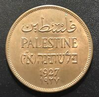 PALESTINE 1927 TWO MILS COIN