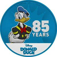 NIUE 2019 $2 DONALD DUCK 85 YEARS   METALLIC BLUE 1 OZ SILVE