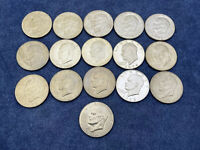 LOT OF 16 EISENHOWER DOLLARS MIXED YEARS AND MINTS 16$ FACE