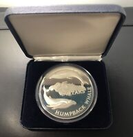 JAMAICA 1985 $25 DOLLAR SILVER PROOF COIN: HUMPBACK WHALE PR