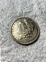 1880-P MORGAN SILVER DOLLAR UNC GOLDEN DOUBLED OBV & REV ? .