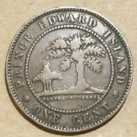 1871 PRINCE EDWARD ISLAND 1 CENT PEI CANADIAN PENNY CANADA PROVINCIAL COIN