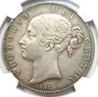 1847 GREAT BRITAIN ENGLAND UK VICTORIA CROWN COIN   CERTIFIED NGC VF30