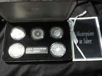 AUSTRALIAN 1989 MASTERPIECES IN SILVER MINT SET OF 50 CENT C