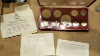 1973 BAHAMAS 9 COIN PROOF SET SILVER $5 $2 $1 50 25 15 10 5 AND 1 CENTS