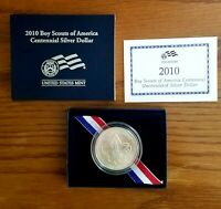 2010 P BOY SCOUTS OF AMERICA UNCIRCULATED SILVER DOLLAR OGP