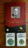2015   HARRY S TRUMAN COIN & CHRONICLES SET NGC MS AND PF 69 WITH OGP
