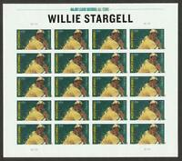 US 4696A MNH WILLIE STARGEL   COMPLETE PANE OF 20   IMPERF