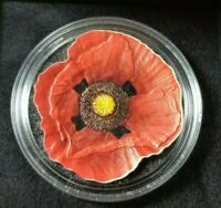 2017 COOK ISLANDS REMEMBRANCE POPPY 1OZ .999 PURE SILVER