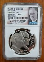 2015 W MARCH OF DIMES SILVER ROOSEVELT DOLLAR $1 NGC PF 70  UC EARLY RELEASE