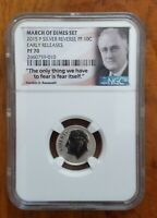 2015 P  REVERSE PROOF MARCH OF DIMES SILVER ROOSEVELT DIME NGC PF 70 ER