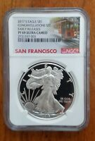 2017 S  NGC PF 69 UC ER AMERICAN SILVER EAGLE FROM CONGRATULATIONS SET