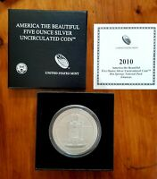 2010 P 5 OZ HOT SPRINGS AMERICA THE BEAUTIFUL FIVE OUNCE SILVER COLLECTOR COIN