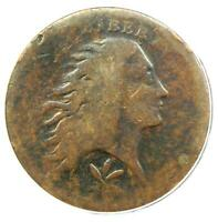 1793 FLOWING HAIR WREATH CENT 1C - CERTIFIED ANACS AG3 DETAIL -  COIN