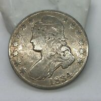 1834 CAPPED BUST HALF DOLLAR BIG DATE SMALL LETTERS