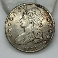 1836 CAPPED BUST HALF DOLLAR SMALL DATE & LETTERS