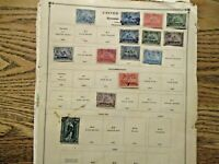 US REVENUE STAMPS ON ALBUM PAGES LOT OF 38 PAGES UNCHECKED O