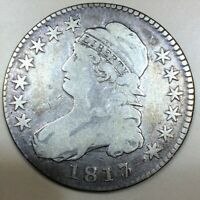 1817/3 CAPPED BUST HALF DOLLAR BEAUTIFUL COIN RARE DATE