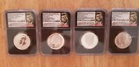 2014 50TH ANNIVERSARY KENNEDY SET   ALL COINS GRADED NGC 70