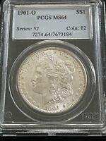 1901 O MORGAN DOLLAR MINT STATE 64 PCGS 90 SILVER $1 US COIN COLLECTIBLE